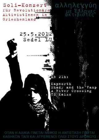 Soli Konzert für Revolutionäre AktivistInnen in Griechenland @ Sedel