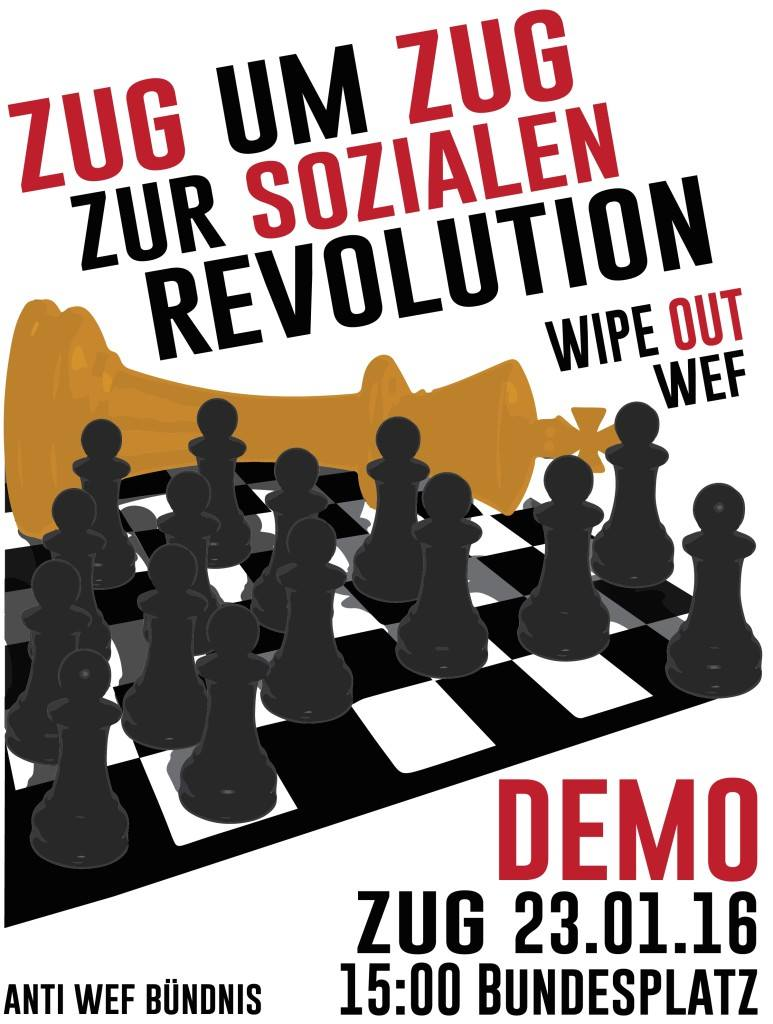 Anti-WEF-Demo am 23. Januar in Zug