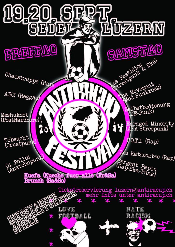 Antira Cup Festival vom 19. bis 20. September in Luzern