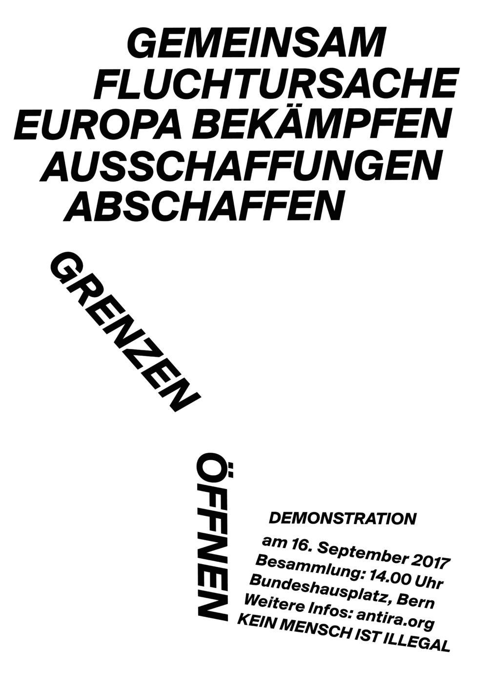 Demo | 16. Sept | Gemeinsam Fluchtursache Europa bekämpfen