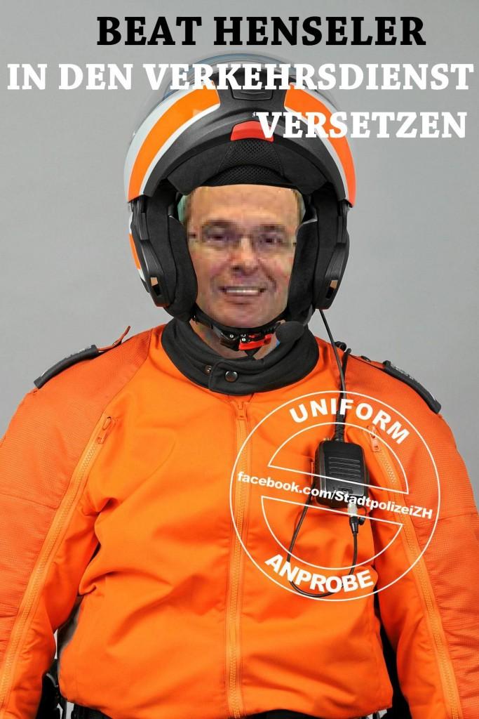 Beat Henseler in den Verkehrsdienst versetzen