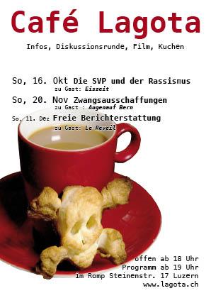 Café Lagota am 11. Dezember: Freie Berichterstattung