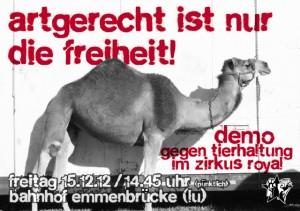 15.12.12 Demo für Zirkus ohne Tiere Emmenbrücke