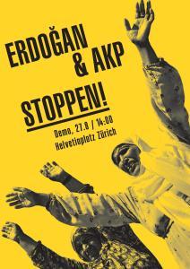 Demo in Zürich: Erdogan und die AKP stoppen (27.8)