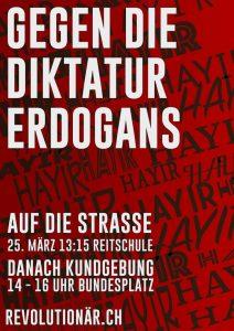 Demo gegen die Diktatur Erdogans