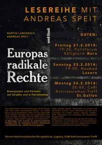 "23. Februar: Buchpräsentation ""Europas radikale Rechte"" mit Andreas Speit"