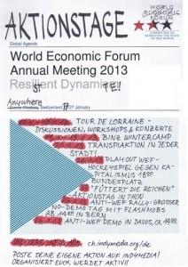 Überregionale Aktionstage gegen WEF und Kapitalismus