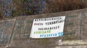 Solidarität mit Anni Lanz und den Stansted15