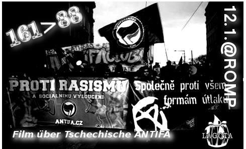 Café Lagota: Film über die tschechische Antifa am 12. Januar