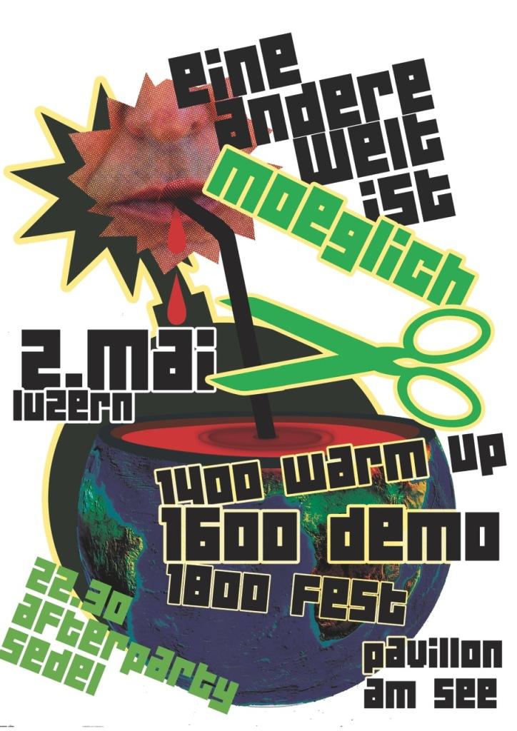 Antikapitalistischer Tanz 5.0 EINE ANDERE WELT IST MÖGLICH am 2. Mai in Luzern