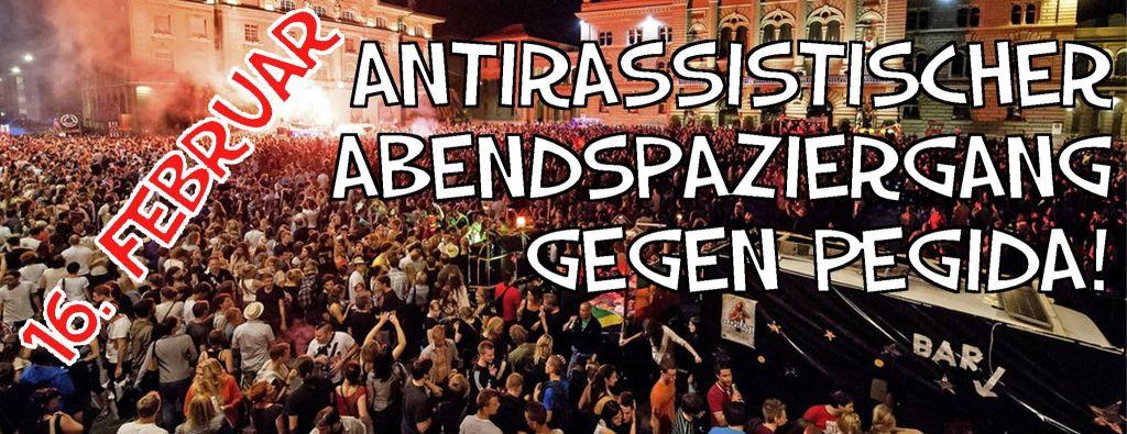 Antirassistischer Abendspaziergang – gegen Pegida!