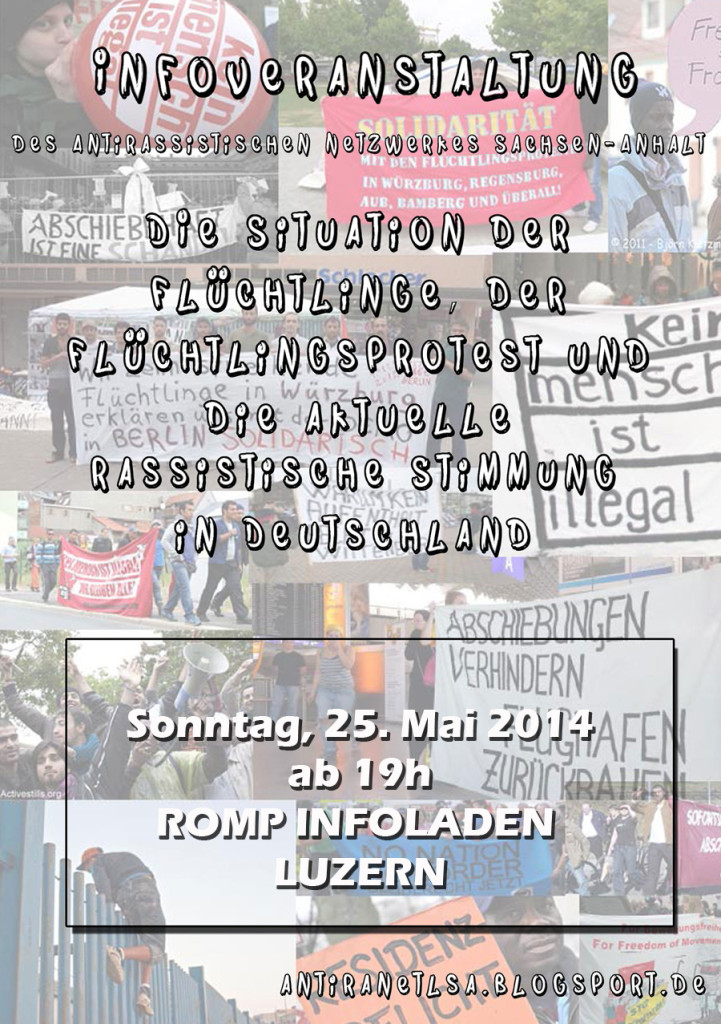 Antira-Infoveranstaltung am 25. Mai im Romp