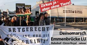 Demo: Artgerecht ist nur die Freiheit! am 9. Dezember in Emmenbrücke