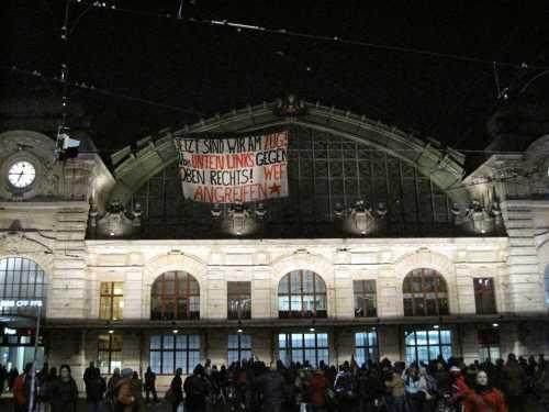 Aktion gegen das WEF in Basel