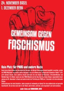 Kein Platz für PNOS und andere Nazis