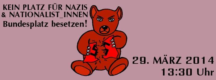 Kein Platz für Neonazis und Nationalisten – Haltet Euch bereit für den 29. März