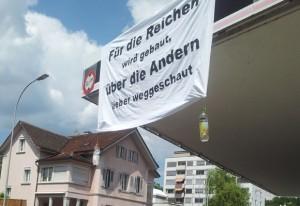 Aktion gegen Aufwertung in Bremgarten