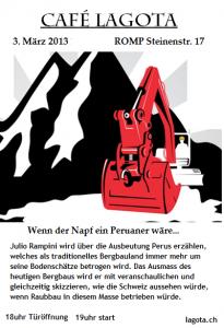 """Café Lagota am 3. März: """"Wenn der Napf ein Peruaner wäre"""""""