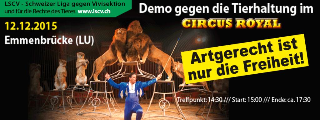 Emmenbrücke: Demo gegen die Tierhaltung im Circus Royal