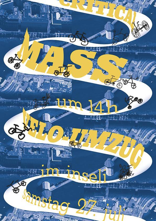 Critical Mass am 27. Juli beim Inseli Luzern