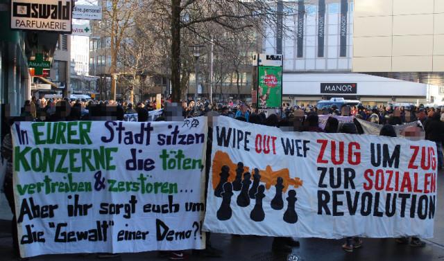 Communiqué zur Anti-WEF Demo in Zug
