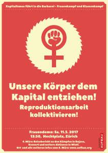 Frauendemo: Sa. 11. März Zürich