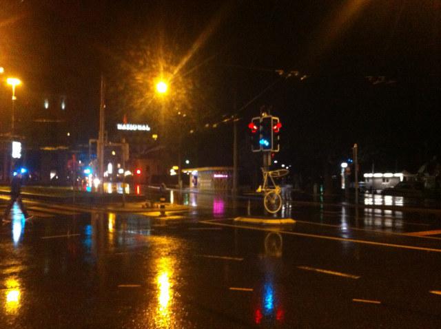 Luzern: Ghostbike angekettet
