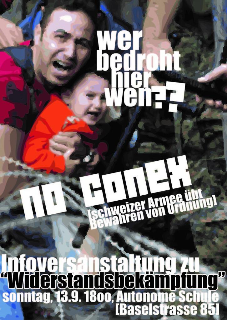 """Infoveranstaltung zu """"Widerstandsbekämpfung"""" am So. 13.9"""