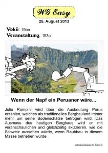 """""""Wenn der Napf ein Peruaner wäre"""" – Veranstaltung am 25. August in Schwyz"""