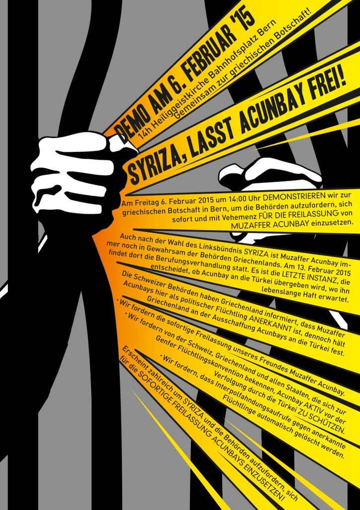 Freiheit für Muzaffer A. & keine Auslieferung an die Türkei!