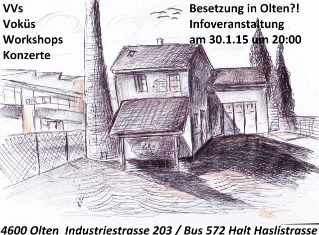 Besetztes Fabrikgelände in Olten