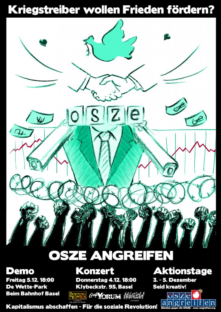 Widerstand gegen die OSZE-Konferenz in Basel!
