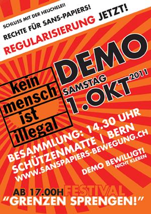 Gesamtschweizerische Grossdemo «Schluss mit der Heuchelei!» am 1. Oktober 2011