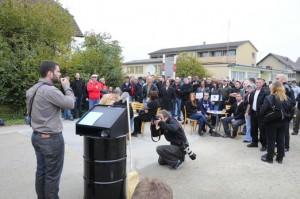 Rechtsradikale protestieren in Langenthal gegen Minarett