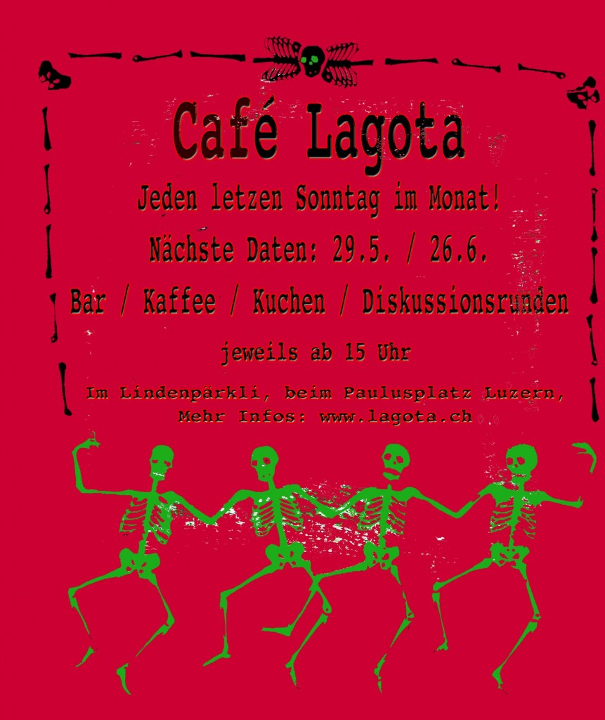 Café Lagota am 29. Mai und 26. Juni