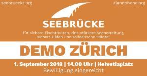 Seebrücke Demo Zürich