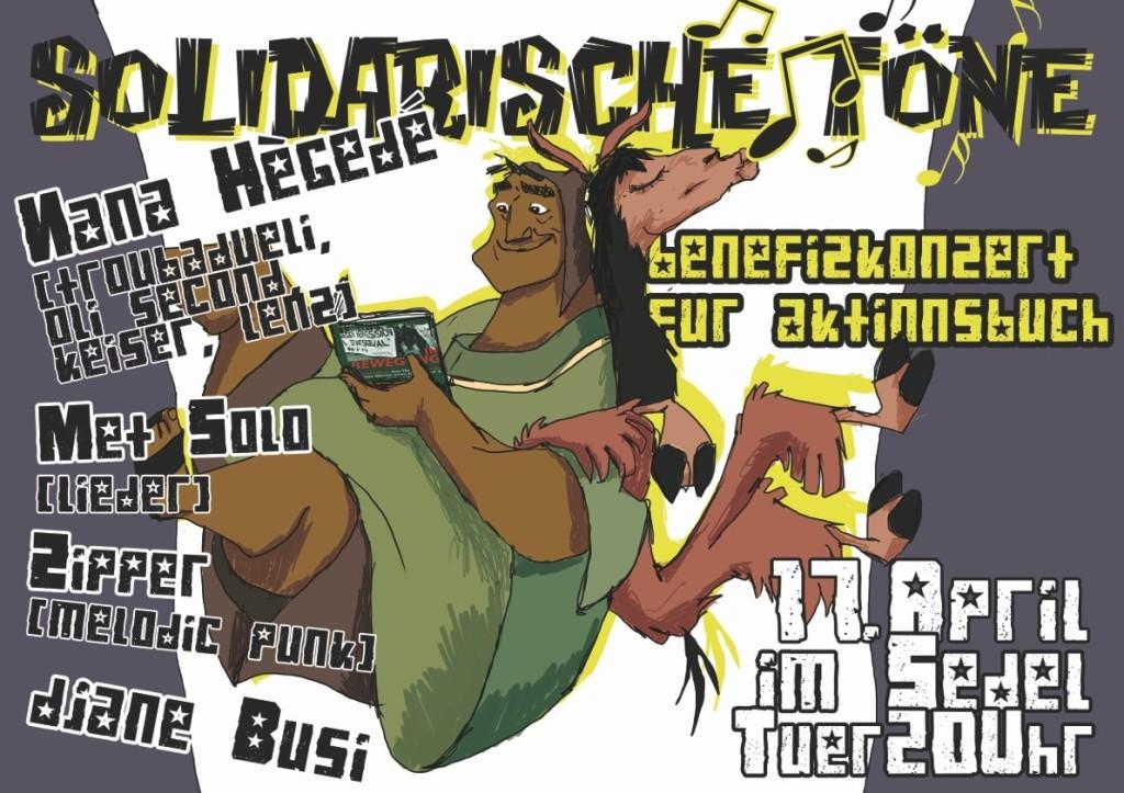 Solidarische Töne mit Nana Hégedè (Troubadueli, Oli Second, Kaiser, Lenz) und DJane Büsi