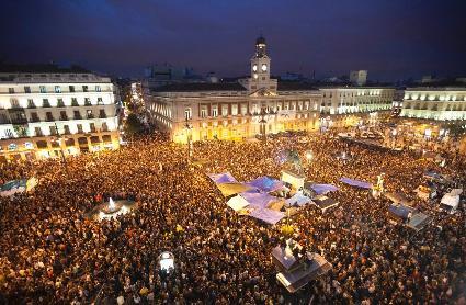 Massenbesetzungen und Jugendbewegung in Spanien