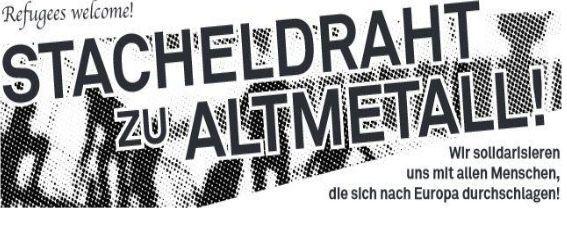 26.9. 16h ZH: REFUGEES WELCOME Demo gegen das Grenzregime