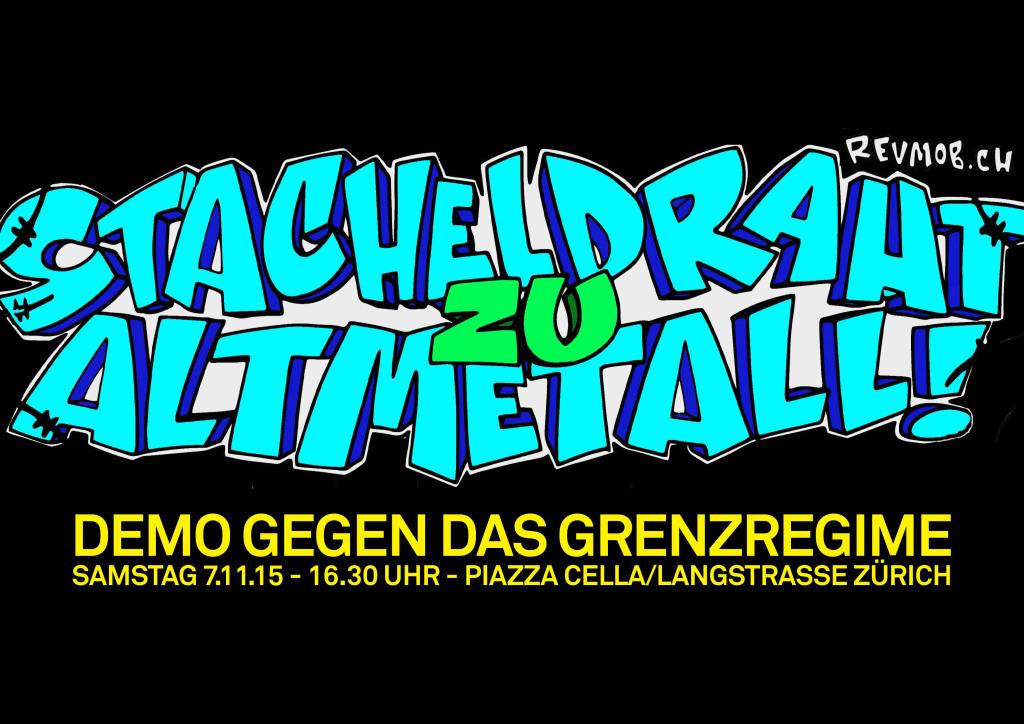 ZH: Demo Stacheldraht zu Altmetall