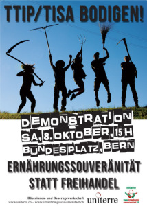 08.10.: TTIP/TISA & Co. bodigen! -15.00, Bern, Bundesplatz