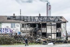 Villa Rosenau nach Brand weitgehend zerstört