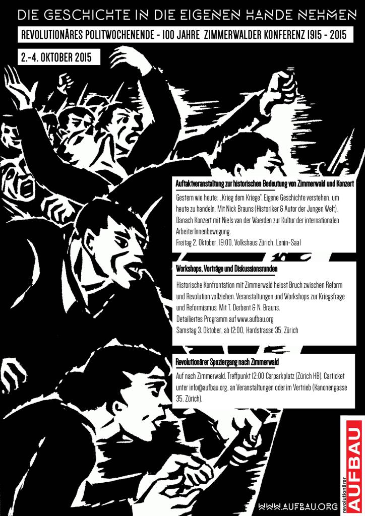 Revolutionäres Politwochenende zum 100jährigen Jubiläum der Zimmerwalder Konferenz